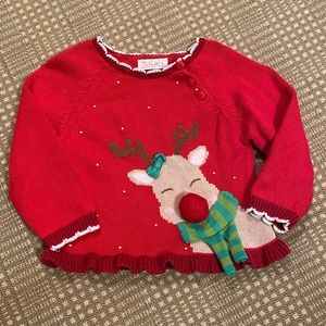 Zubels reindeer sweater 2T